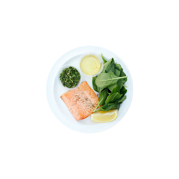 Salmon Spinach, Chimichurri, Avocado Oil  - 2P boxes, 1F box