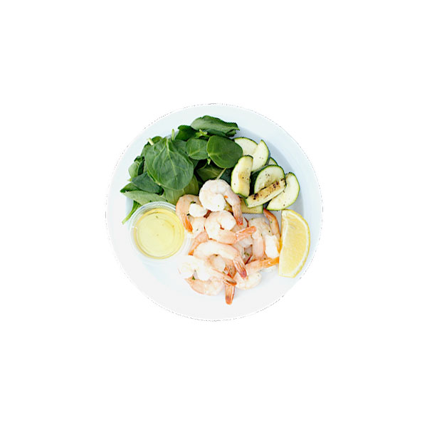 Shrimp, Zuchinni, Spinach, Avocado Oil, Cheddar - 2P boxes, 1C box, 2F boxes