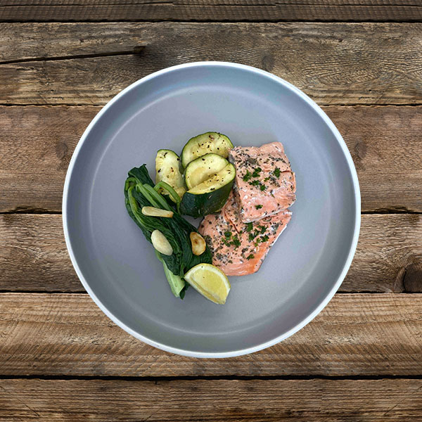 Salmon, Zucchini, Avocado Oil