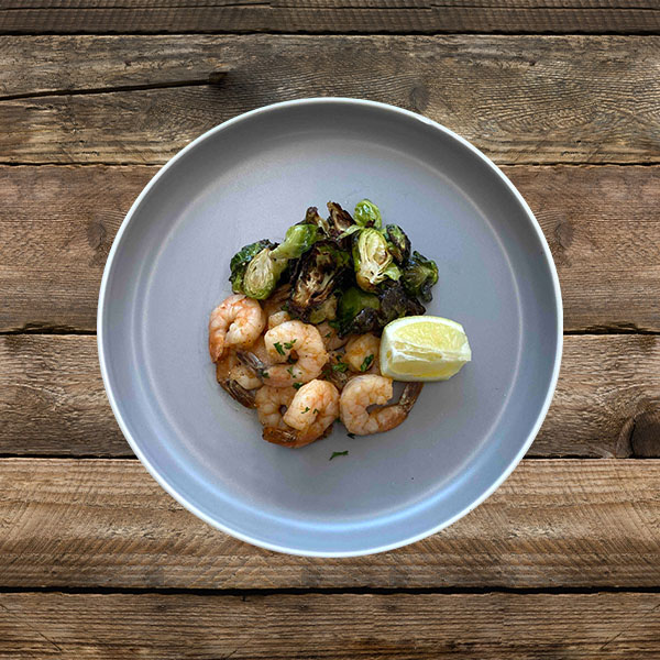 Shrimp, Brussels, Avocado Oil - 2P boxes, 1C box, 1F box