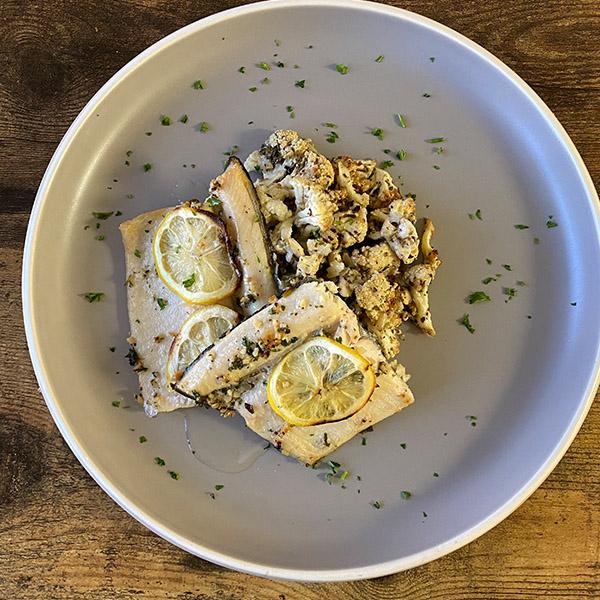Trout, Cauliflower, Avocado Oil