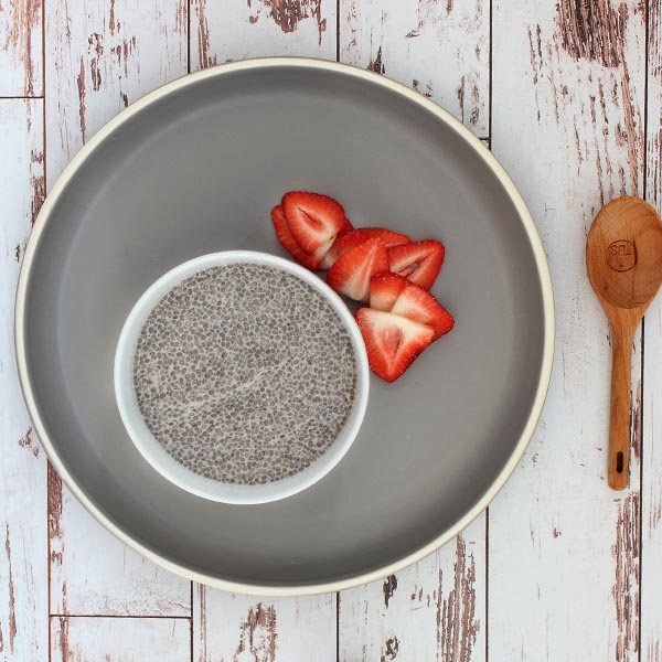 Organic strawberry chia pudding
