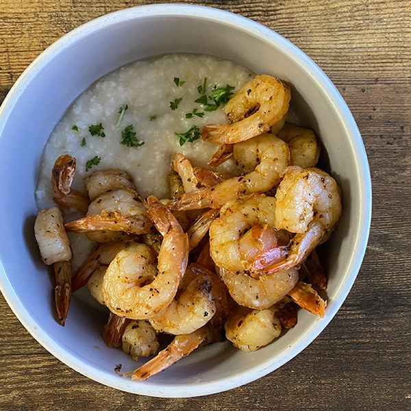 Shrimp, Grits, & Avocado Oil - Keto Version