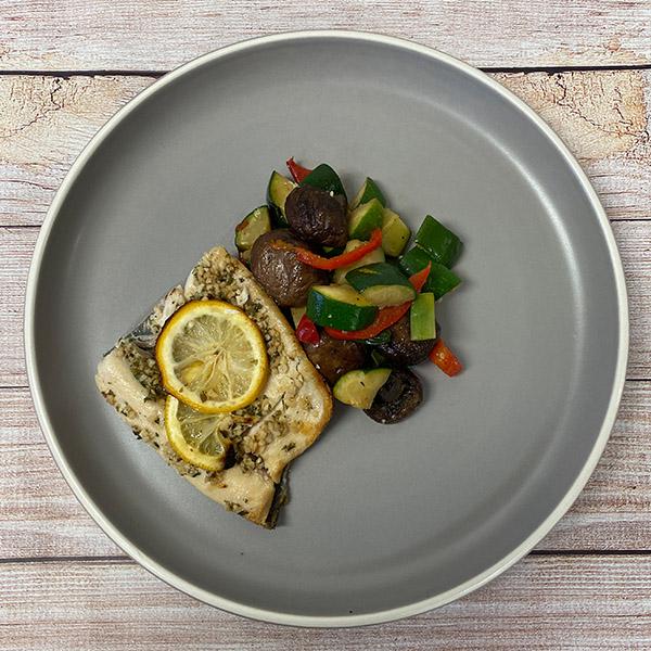 Lemon Parsley Trout & Sautéed veggies